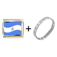 Items from KS - nicaragua flag photo italian charm combination Image.