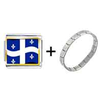 Items from KS - quebec flag photo italian charm combination Image.