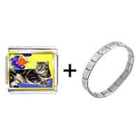 Items from KS - cat photo italian charm combination Image.