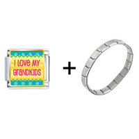 Items from KS - i love my grandkids photo charms combination Image.