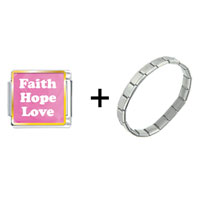 Items from KS - faith hope love pink combination Image.