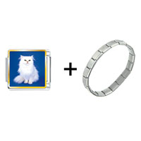 Items from KS - white fluffy cat combination Image.