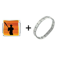Items from KS - baseball player silhouette combination Image.