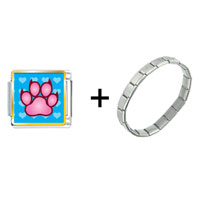 Items from KS - pink paw print combination Image.