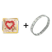 Items from KS - rose heart wreath with arrow combination Image.