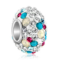 Birthstone Charms 925 Sterling Silver Topaz Yellow And Blue Colorful Crystal Bead
