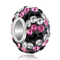 Birthstone Charms Colorful Classic Black Red Birthstone Crystals Ball Bead Sterling Silver Charm