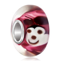 Mouse Like Mickey Lampwork Silver Murano Glass Beads Charms Bracelets Fit All Brands