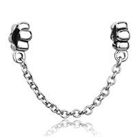 Metalwork Flowers Chain Link Charm For Bracelets Charm Bead Bracelet