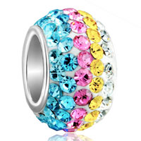 Birthstone Charms Colored Yellow Pink Blue Clear Element Crystal Beads Charm Bracelets