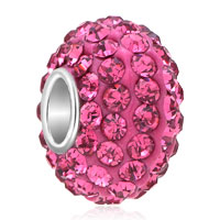 Birthstone Charms Rose Pink October Birthstone Element Crystal Beads Charm Bracelets
