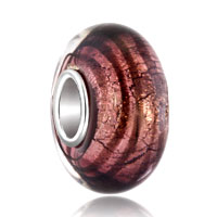 Purple Spiral Line Fit Murano Glass Beads Charms Bracelets All Brands