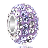 Birthstone Charms Gorgeous Pale Purple Birthstone April Beads 925 Sterling Silver Core