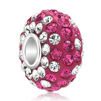 Birthstone Charms Jewelry 925 Sterling Silver Crystal Bead Fit Charm