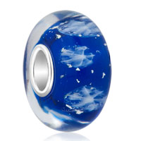 Sapphire Blue Christmas Gifts Snowflake 925 Sterling Silver Fits Murano Glass Beads Charms Bracelets Fit All Brands