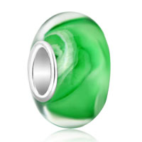 Emerald Green Ice Cream 925 Sterling Silver Fits Murano Glass Beads Charms Bracelets Fit All Brands