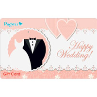 Happy Wedding 10 1000 Gift Card Certificate White Rose Happy Wedding Accessories