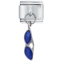 Sunglasses Blue Italian Charms Dangle Italian Charm