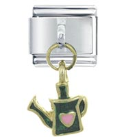 Water Can Green Italian Charms Dangle Italian Charm