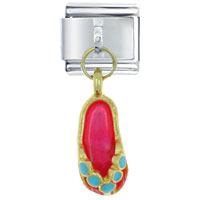 Sandal Hot Pink Italian Charm Dangle Italian Charm