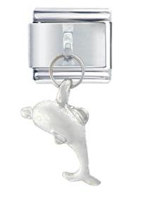 Dolphin Silver Italian Charms