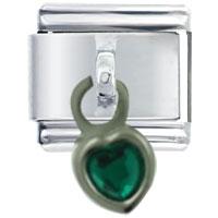 Dangle May Heart Italian Charm Bracelet Dangle Italian Charm