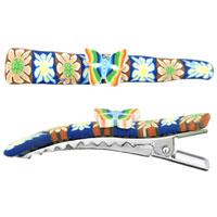 Rainbow Butterfly Fimo Hair Clip