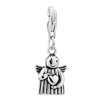 Angel Heart Sterling Clasp Pendant Adjustable Fit For Men And Women Dangle European Beads All Brands