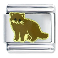 Brown Cat Italian Charms