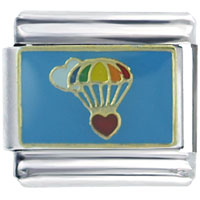 Parachute Heart Holiday Italian Charm Bracelet