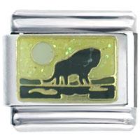 Golden Italian Charm Bracelet Black Buffalo Spring
