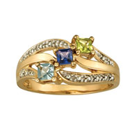 Personalized Mom 10 K Gold Plate Shine Mother S Birthstone Ring Size 8