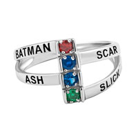 Mothers Mom Family Personalized Birthstone Ring 925 Sterling Silver 4 Names And Stones Size 8