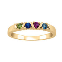 Pesonalized Family Birthstone Ring 10 K Gold Plated 2 5 Stones Size 13