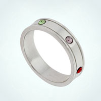 925 Sterling Silver Mom Mother Personalized Birthstone Rings Band Size 8