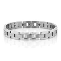 Fashion Mens Jewelry Titanium Steel Bracelet Radiation Protection