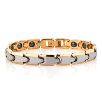Fashion Mens Jewelry Genuine Tungsten Gold Bracelet Radiation Protection