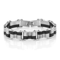 Hot Fashion Classical Titanium Steel Couple Bracelets Men Couple Charm