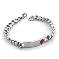 Simple Vogue Stainless Steel Medical Alert Id Bracelet For Gentleman