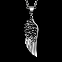 Angel Wings Silver Cremation Jewelry Keepsake Angel Pendant Necklace Funeral