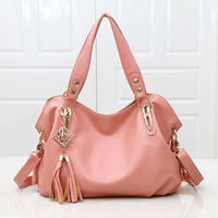 Women S Light Pink New Hobo Satchel Messenger Bag Pu Purse Shoulder Tassels Handbag