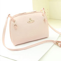 Shoulder Messenger Bag New Fashion Women Pu Leather Handbag Crossbody Satchel Pink