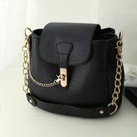 Shoulder Messenger Bag New Fashion Women Pu Leather Handbag Crossbody Satchel Black