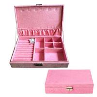 Pink Jewelry Storage Box Organizer Display Storage Earring Cufflink Case