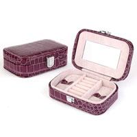 Purple Jewelry Storage Box Organizer Display Storage Earring Cufflink Case