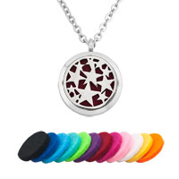 Stars Round Shape Perfume Essential Oil Floating Locket Fit Chains Charms Necklace
