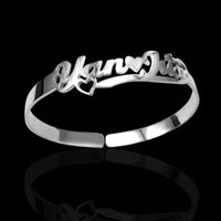 Sterling Silver Personalised Name Bangle Cuff Bracelets 75 Custom Made Any Name