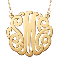 Gold P Personalized Initial Name Monogram Necklace 925 Sterling Silver Pendant Necklace
