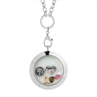 Family Tree Of Life Heart Birthstone Crystal Floating Locket Charms Memory Living Locket Bracelet