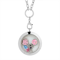 Floating Locket Flower Charms Birthstone Crystal Memory Living Locket Magnetic Bracelet